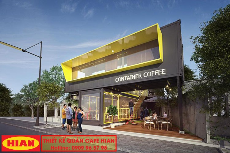 Thiết Kế Quán Cafe Bằng Container
