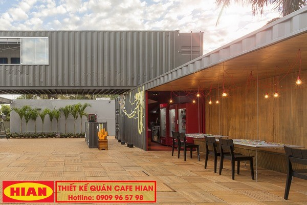 Thi Công Quán Cafe Container